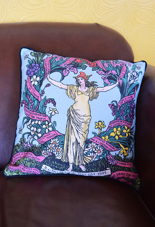 May Day 1895 cushion cover