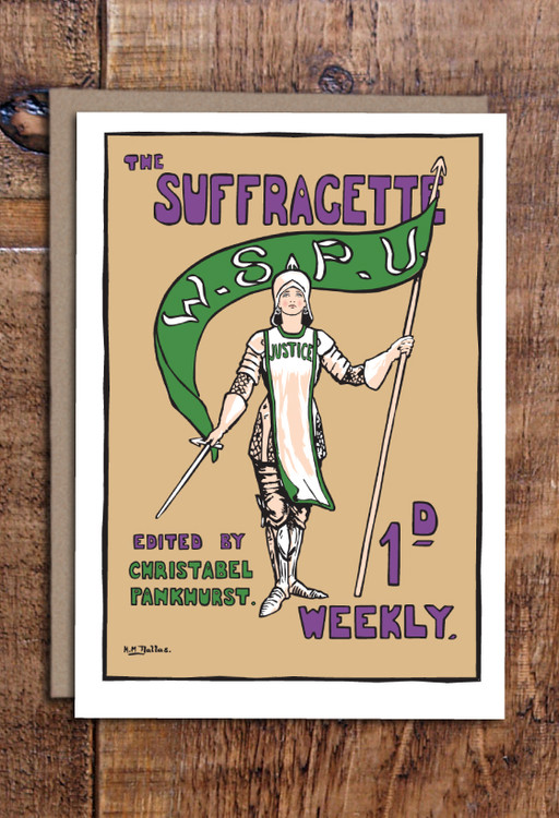 Joan of Arc Suffragette cards pack of 8