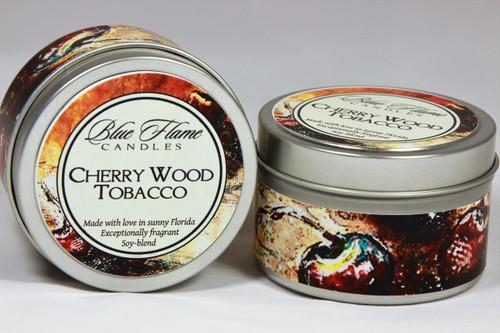 Cherry Wood Tobacco Travel Tin