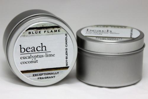Beach Travel Tin- Modern