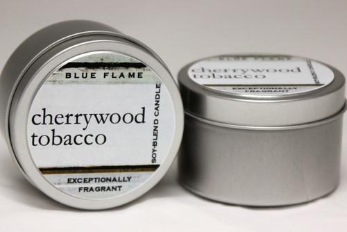 Cherry Wood Tobacco Travel Tin- Modern