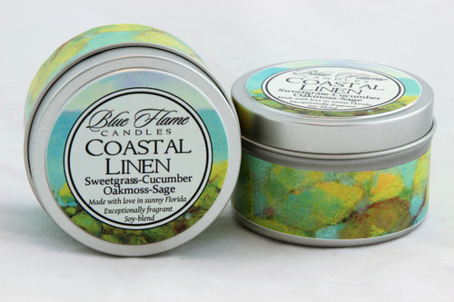 Coastal Linen Travel Tin