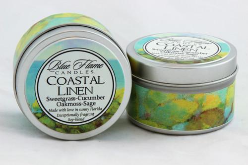 Coastal Linen Travel Tin