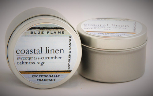 Coastal Linen Travel Tin- Modern
