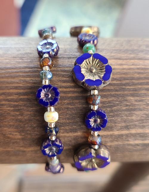 Indigo bracelet set.