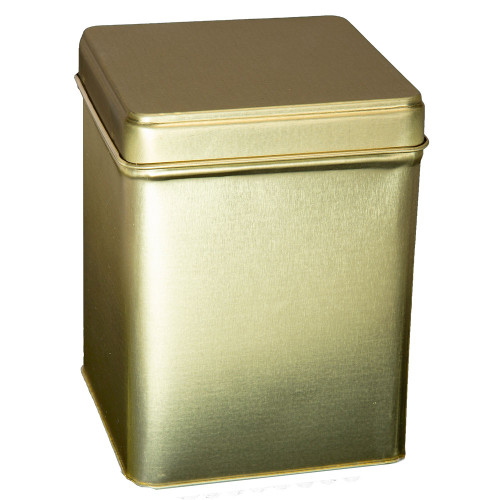 Tin With Hinge - Gold - 4 oz