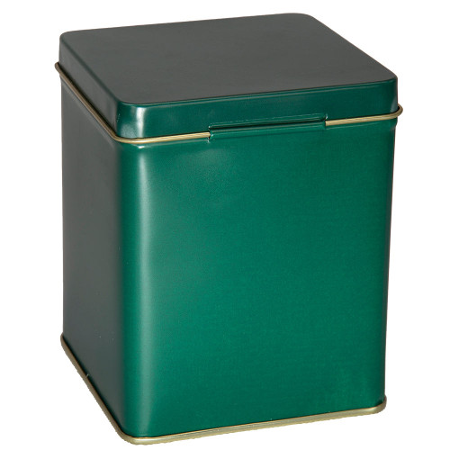 Tin With Hinge - Green - 4 oz