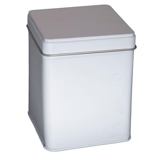 Tin With Hinge - White - 4 oz