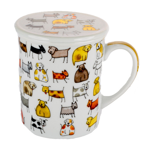 Cats N Dogs - Tea Cup With Infuser
