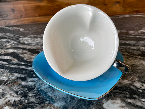 Inside Heart Cup and Saucer - Colors - Set of 6