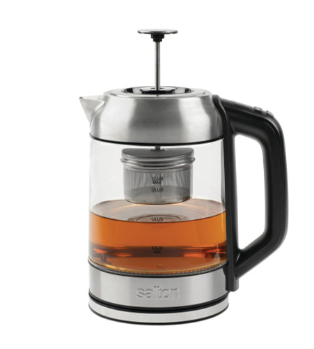 Cordless Glass Tea Brewer - Stainless Steel