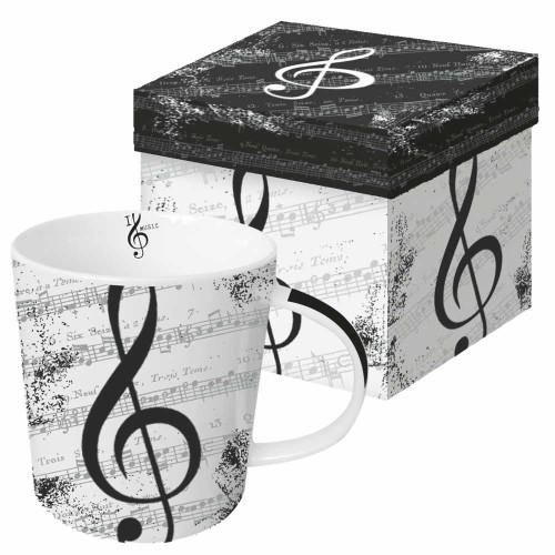 Music Treble Clef Mug With Box