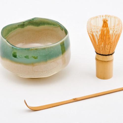 Matcha Set - White & Green - Japanese