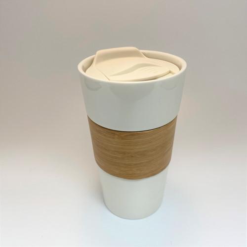 White Tea Tumbler with Bamboo