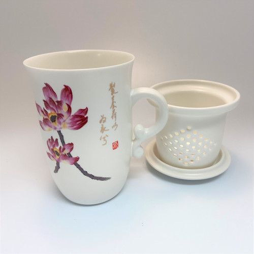 Blossom Tea Cup With Lid & Ceramic Infuser