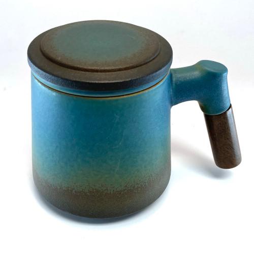 Wood Handle Tea Mug with strainer