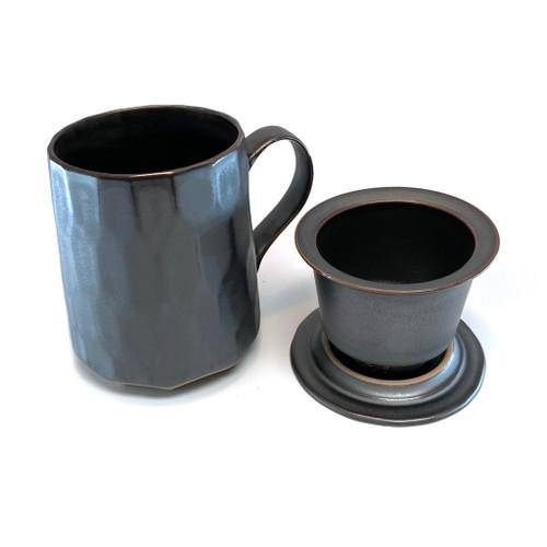 Patterned Tea Mug with Infuser