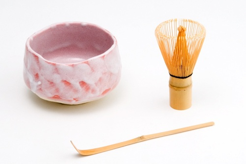 Matcha Set with Coral Bowl