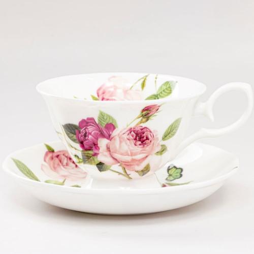 Kensington Pink Rose - Cup and Saucer Set