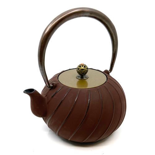 Cast Iron Tea pot with copper handle