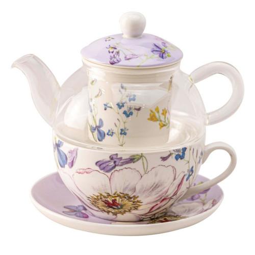 Purple Butterfly Glass - Tea for One