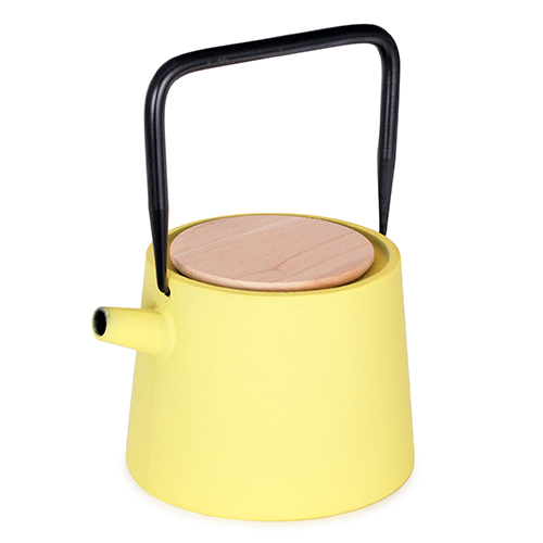 Cast Iron Teapot Yellow 12 ounce