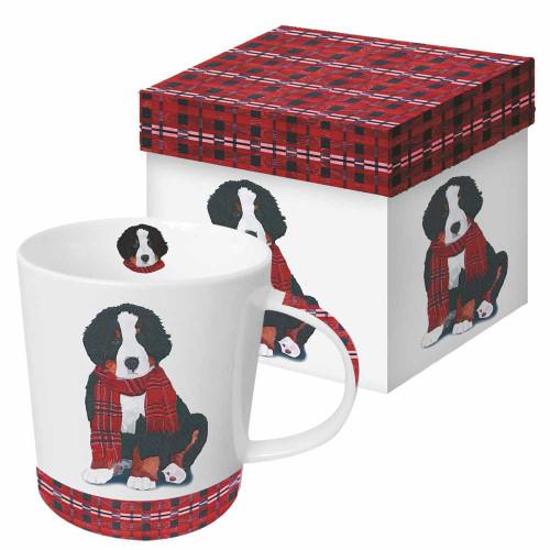 Plaid Puppy Mug With Gift Box