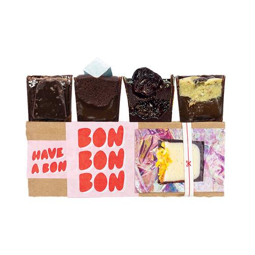 4 piece box of chocolates from Detroit, Michigan