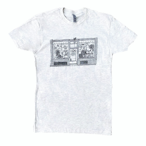 T-shirt with drawing of  Ann Arbor, Michigan chocolate shop