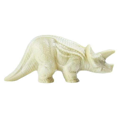 white chocolate dinosaur made by Bon Bon Bon in Detroit, Michigan
