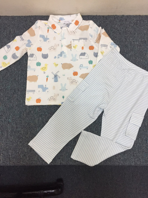 Angel Dear   Little Farm Polo & Cargo Pany Set