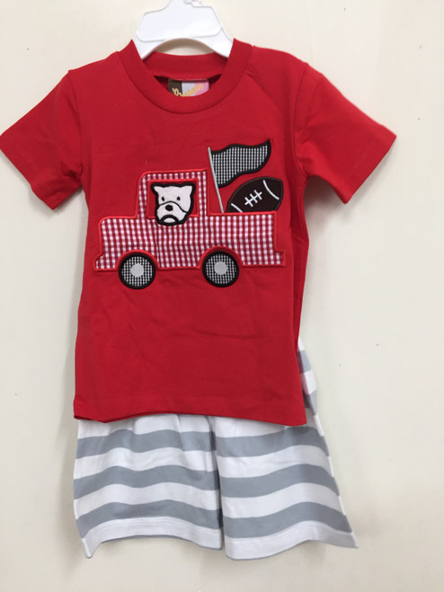 Banana Split Red Bulldogs App. Boys T-Shirt  Short