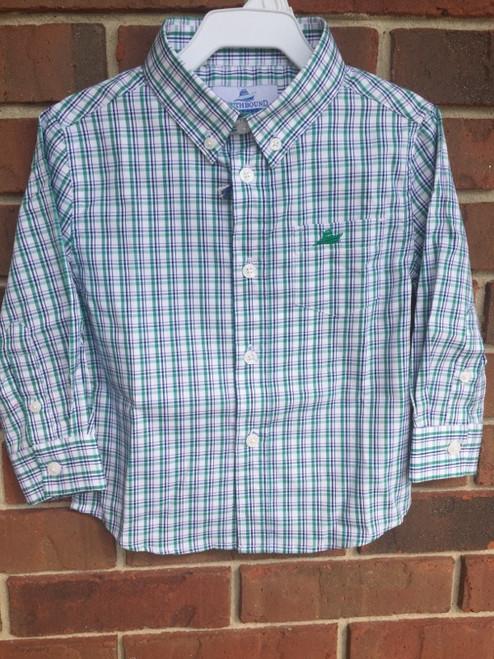 SouthBound  Dress Shirt red/Green/Blue Plaid  1714