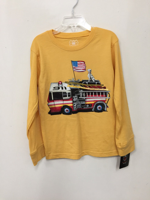 Wes & Willy  Fire Truck L S Tee Shirt         7313