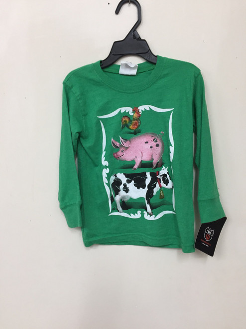 Wes & Willy  Farm Life L S Tee Green  7320