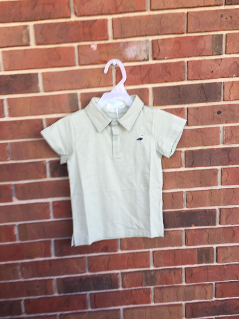 Properly Tied  Breaker Polo Shirt        Sage   17