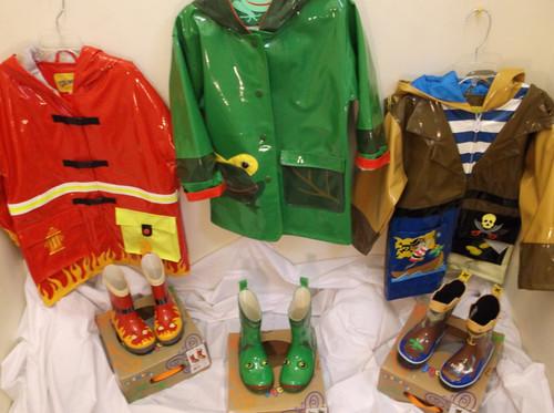 Raincoats and rainboots