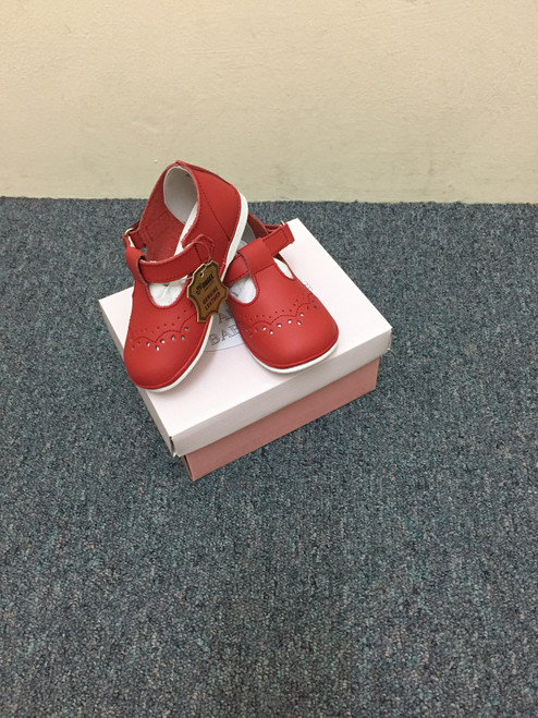 Angel Baby Shoes Red T-Strap Mary Jane   2945