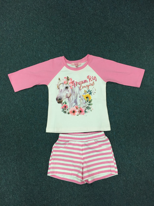 3/4 Raglan top Milly short set
