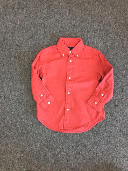 Ralph Lauren   Garment Dye Twill LS     Red    200
