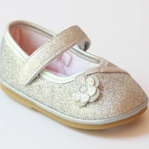 Angel Baby Shoe   Glitter Silver     T200