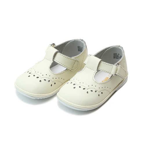 Angel Baby Shoe  Birdie Ecru T-Strap Mary Jane