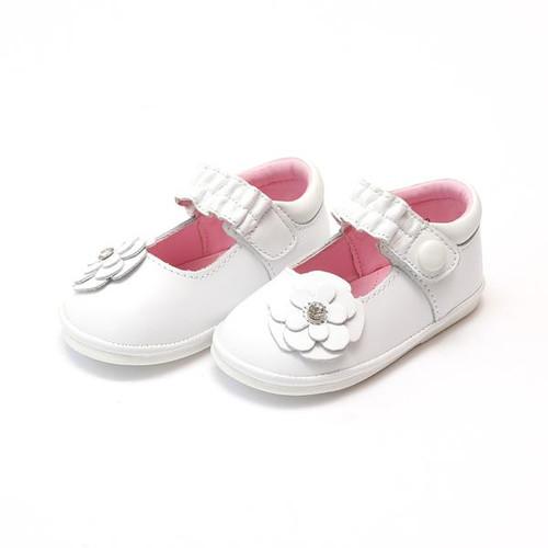 Angel Baby Shoe    Diamon Flower  White