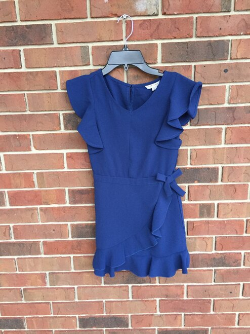 Habitual Navy Ruffle Dress