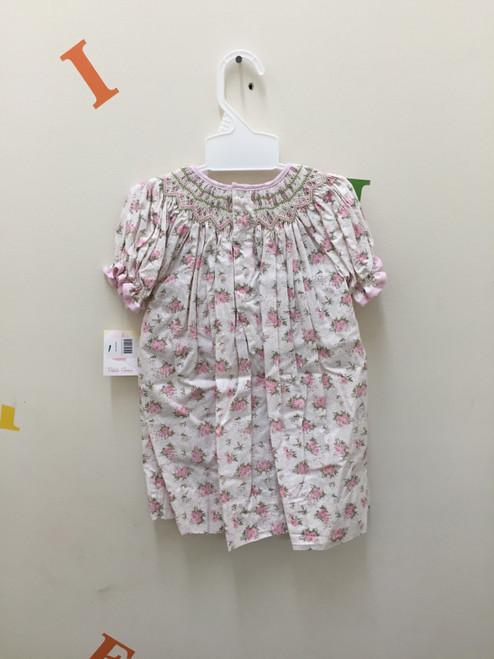 2 Piece Smocked Floral Dress 3398