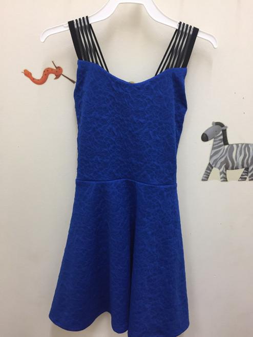 Area Code 407 Texture Circle Dress See Thru Straps