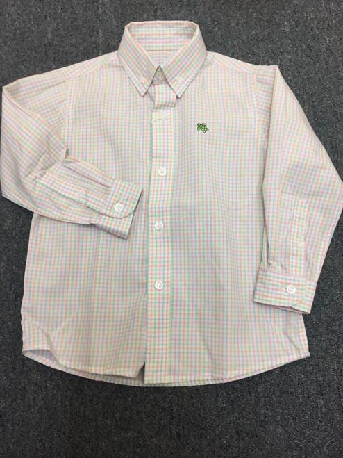 Bailey Boys  Button Down Shirt Pink Checked