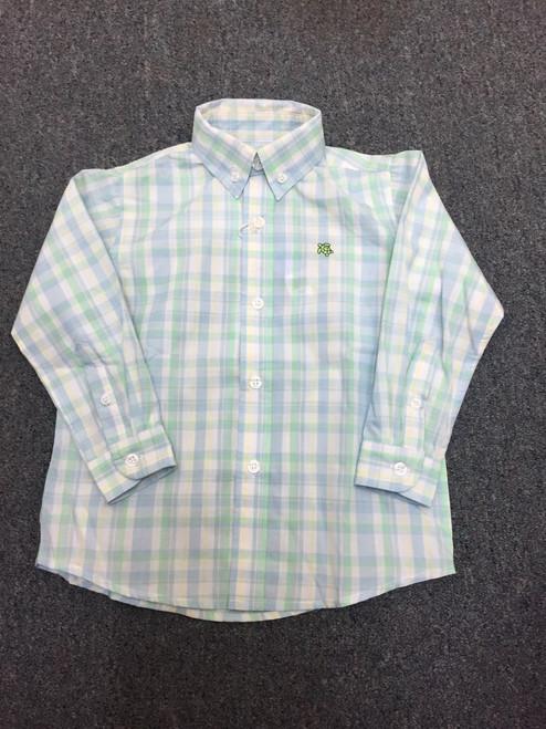 Bailey Boys Button Down Shirt Blue Checked