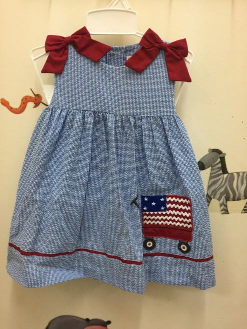 Petit Ami   Dress Flag App. Red Bows