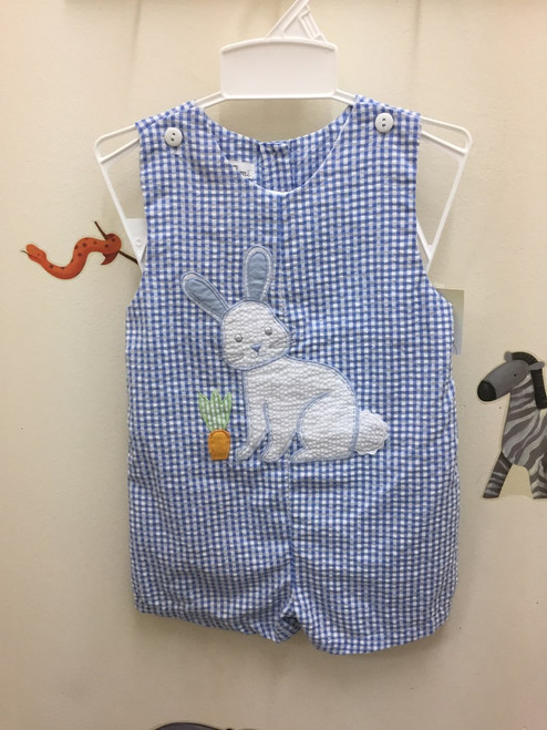 Petit Ami     Sunsuit  Rabbit App. Easter   Blue